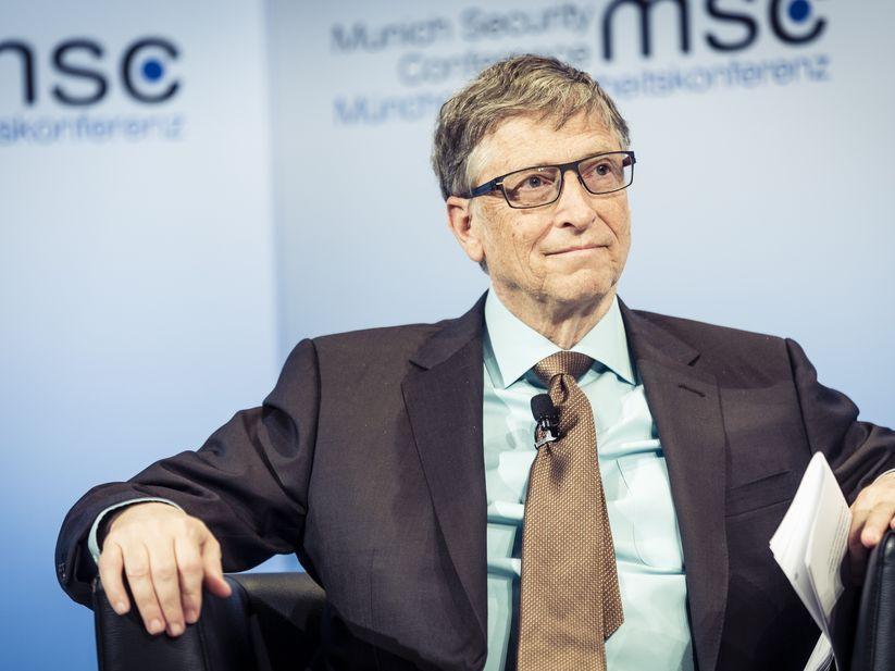 Bill Gates seated